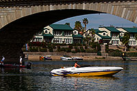 /images/133/2011-04-02-havasu-bridge-boat-65619.jpg - #09211: Boat at London Bridge in Lake Havasu City … April 2011 -- London Bridge, Lake Havasu City, Arizona