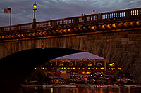 /images/133/2011-04-02-havasu-bridge-evening-65868.jpg - #09191: Evening at London Bridge in Lake Havasu City … April 2011 -- London Bridge, Lake Havasu City, Arizona