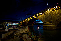 /images/133/2011-04-02-havasu-bridge-night-65920.jpg - #09192: Night at London Bridge in Lake Havasu City … April 2011 -- London Bridge, Lake Havasu City, Arizona