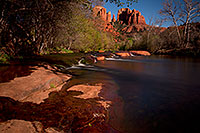 /images/133/2011-04-10-sedona-cat-river-66405.jpg - #09191: Cathedral Rock and Oak Creek in Sedona … April 2011 -- Cathedral Rock, Sedona, Arizona