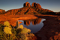 /images/133/2011-04-10-sedona-cat-river-66436.jpg - #09227: Cathedral Rock reflection in Sedona … April 2011 -- Cathedral Rock, Sedona, Arizona