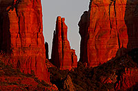 /images/133/2011-04-10-sedona-cathedral-66477.jpg - #09223: Evening light on Cathedral Rock in Sedona … April 2011 -- Cathedral Rock, Sedona, Arizona