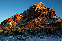 /images/133/2011-04-10-sedona-coffeepot-66219.jpg - #09230: Morning snow in Sedona … April 2011 -- Thunder Mountain, Sedona, Arizona