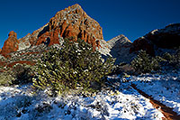 /images/133/2011-04-10-sedona-coffeepot-66249.jpg - #09231: Morning snow in Sedona … April 2011 -- Thunder Mountain, Sedona, Arizona