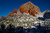 /images/133/2011-04-10-sedona-coffeepot-66254.jpg - #09232: Morning snow in Sedona … April 2011 -- Thunder Mountain, Sedona, Arizona