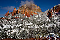/images/133/2011-04-10-sedona-coffeepot-66311.jpg - #09233: Morning snow in Sedona … April 2011 -- Thunder Mountain, Sedona, Arizona