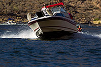 /images/133/2011-06-04-canyon-lake-boats-75544.jpg - #09304: Boat and wakeboarder at Canyon Lake in Superstitions … June 2011 -- Canyon Lake, Superstitions, Arizona