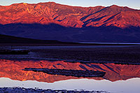 /images/133/2011-06-21-dv-badwater-sunrise-77849.jpg - #09405: Badwater morning mountain reflection in Death Valley … June 2011 -- Badwater, Death Valley, California