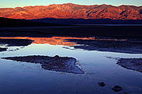 /images/133/2011-06-21-dv-badwater-sunrise-77868.jpg - #09382: Badwater morning mountain reflection in Death Valley … June 2011 -- Badwater, Death Valley, California