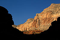 /images/133/2011-06-24-havasu-canyon-78747.jpg - #09390: Rock silhouettes along Havasupai Trail … June 2011 -- Havasupai Trail, Havasu Falls, Arizona