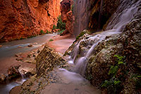 /images/133/2011-06-25-havasu-mooney-small-79561.jpg - #09410: Near Mooney Falls … June 2011 -- Havasu Creek, Havasu Falls, Arizona