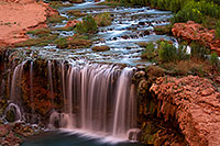 /images/133/2011-06-26-havasu-rock-falls-80617.jpg - #09420: Evening at Rock Falls … June 2011 -- Rock Falls, Havasu Falls, Arizona
