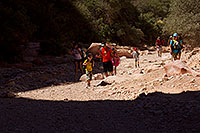 /images/133/2011-06-27-hava-canyon-hikers-81054.jpg - #09423: Along Havasupai Trail … June 2011 -- Havasupai Trail, Havasu Falls, Arizona