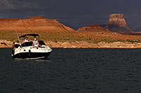 /images/133/2011-07-11-powell-mon-82309.jpg - #09414: Sundancer Boat by Antelope Point at Lake Powell … July 2011 -- Lake Powell, Arizona