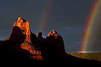 /images/133/2011-08-01-sedona-rainbow-89600.jpg - #09398: Rainbow over Red Rocks in Sedona … August 2011 -- Schnebly Hill, Sedona, Arizona