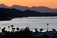 /images/133/2011-08-14-lake-havasu-evening-90614.jpg - #09517: Evening mountain silhouettes at Lake Havasu … August 2011 -- Lake Havasu, Arizona