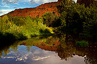 /images/133/2011-08-22-sedona-cathedral-pond-90761.jpg - #09488: Reflection of Cathedral Rock in Sedona … August 2011 -- Cathedral Rock, Sedona, Arizona