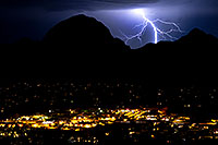 /images/133/2011-09-08-sedona-lightning-93457.jpg - #09550: Lightning view of Sedona from Airport Overlook … September 2011 -- Sedona, Arizona