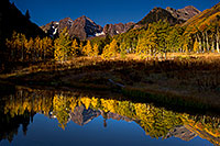 /images/133/2011-10-03-maroon-pond-103888.jpg - #09596: Pond reflection of Maroon Bells, Colorado … October 2011 -- Maroon Bells, Colorado