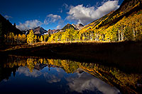/images/133/2011-10-04-maroon-pond-104320.jpg - #09602: Pond reflection of Maroon Bells, Colorado … October 2011 -- Maroon Bells, Colorado
