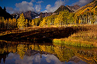 /images/133/2011-10-04-maroon-pond-104333.jpg - #09603: Pond reflection of Maroon Bells, Colorado … October 2011 -- Maroon Bells, Colorado