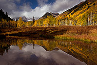 /images/133/2011-10-05-maroon-pond-104854.jpg - #09609: Pond reflection of Maroon Bells, Colorado … October 2011 -- Maroon Bells, Colorado