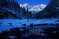 /images/133/2011-10-28-maroon-sunrise-snowy-109862.jpg - #09734: Snowy sunrise in Maroon Bells, Colorado … October 2011 -- Maroon Bells, Colorado
