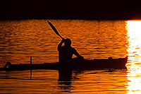 /images/133/2011-11-12-tempe-lake-boats-114025.jpg - #09708: Kayaker at sunset at Tempe Town Lake … November 2011 -- Tempe Town Lake, Tempe, Arizona