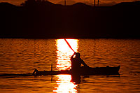 /images/133/2011-11-12-tempe-lake-boats-114034.jpg - #09709: Kayaker at sunset at Tempe Town Lake … November 2011 -- Tempe Town Lake, Tempe, Arizona
