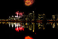 /images/133/2011-11-20-tempe-asu-fireworks-121281.jpg - #09847: Fireworks over ASU from Tempe Town Lake … November 2011 -- Tempe Town Lake, Tempe, Arizona