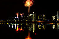 /images/133/2011-11-20-tempe-asu-fireworks-d3s-795.jpg - #09849: Fireworks over ASU from Tempe Town Lake … November 2011 -- Tempe Town Lake, Tempe, Arizona