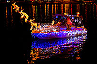 /images/133/2011-12-10-tempe-aps-lights-127217.jpg - #09868: Boat #13 before APS Fantasy of Lights Boat Parade … December 2011 -- Tempe Town Lake, Tempe, Arizona