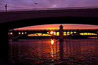 /images/133/2011-12-20-tempe-sunset-128168.jpg - #09881: Plane above Tempe Town Lake at sunset … December 2011 -- Tempe Town Lake, Tempe, Arizona