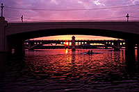 /images/133/2011-12-20-tempe-sunset-rowers-0733.jpg - #09882: Rowers at Tempe Town Lake at sunset … December 2011 -- Tempe Town Lake, Tempe, Arizona