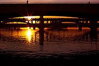 /images/133/2011-12-29-tempe-sunset-bridge-129210.jpg - #09890: Sunset at Tempe Town Lake … December 2011 -- Tempe Town Lake, Tempe, Arizona