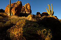 /images/133/2012-03-15-supers-rock-view-148792.jpg - #10175: Evening in Superstitions … March 2012 -- Apache Trail Road, Superstitions, Arizona