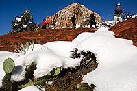 /images/133/2012-03-20-sedona-snow-people-149959.jpg - #10151: Snow in Sedona … March 2012 -- Thunder Mountain, Sedona, Arizona