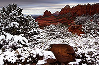 /images/133/2012-04-15-sedona-schnebly-154266.jpg - #10194: Snow in Sedona … April 2012 -- Schnebly Hill, Sedona, Arizona