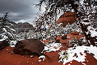 /images/133/2012-04-15-sedona-snow-fishe-5d2_0374.jpg - #10205: Snow in Sedona … April 2012 -- Schnebly Hill, Sedona, Arizona