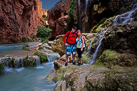 /images/133/2012-05-13-havasu-mooney-people-163311.jpg - #10279: People near Mooney Falls … May 2012 -- Mooney Falls, Havasu Falls!, Arizona