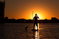 /images/133/2012-10-14-tempe-sunst-up-pad-1dx_4259.jpg - #10279: Stand up paddler at Tempe Town Lake … October 2012 -- Tempe Town Lake, Tempe, Arizona