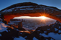 /images/133/2013-12-05-canyons-mesa-1d4_1872.jpg - 11471: Sunrise at Mesa Arch in Canyonlands National Park … December 2013 -- Mesa Arch, Canyonlands, Utah