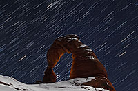 /images/133/2013-12-09-arches-del-85_20-1d4_2762.jpg - #11383: 11 minutes of star trails at Delicate Arch in Arches National Park … December 2013 -- Delicate Arch, Arches Park, Utah
