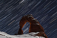 /images/133/2013-12-09-arches-del-85_50-1d4_2762.jpg - #11384: 28 minutes of star trails at Delicate Arch in Arches National Park … December 2013 -- Delicate Arch, Arches Park, Utah