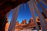 /images/133/2013-12-22-arches-park-ice-3-1dx_7922.jpg - #11435: Park Avenue in Arches National Park … December 2013 -- Park Avenue, Arches Park, Utah