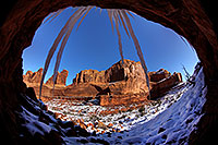 /images/133/2013-12-22-arches-park-ice-3-5d3_6172.jpg - #11436: Park Avenue in Arches National Park … December 2013 -- Park Avenue, Arches Park, Utah