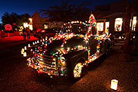 /images/133/2014-12-06-tubac-lights-1dx_7200.jpg - #12311: Truck at Luminaria Nights in Tubac, Arizona … December 2014 -- Tubac, Arizona