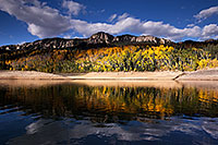 /images/133/2015-10-04-silver-reflection-6d_1866.jpg - #12731: Images of Owl Creek Pass … October 2015 -- Silver Jack Reservoir, Owl Creek Pass, Colorado