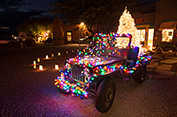 /images/133/2016-12-02-tubac-lights-1dx_30709.jpg - #13195: USMC Jeep with Christmas Lights in Tubac, Arizona … December 2016 -- Tubac, Arizona