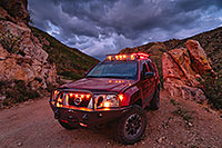 /images/133/2020-07-28-box-canyon-clouds-xterra-1to5-a7r3_29630.jpg - 14816: Monsoon clouds and Xterra in Box Canyon … July 2020 -- Box Canyon, Arizona
